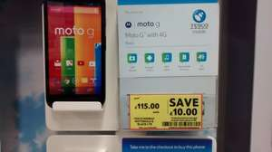 Motorola Moto G 4G now £115 in store Tesco
