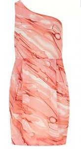 Dorothy Perkins Scarlett B one shouldered marble dress now £3 & free delivery code or c&c was £45 (sizes 14/16/18 available)