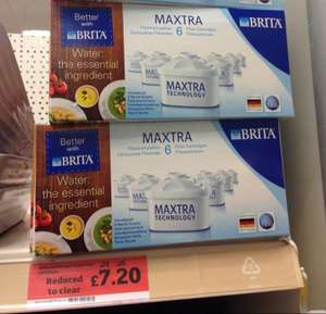 Brita Maxtra water filter 6 pack. Was £24 now £7.20 @ Sainsburys