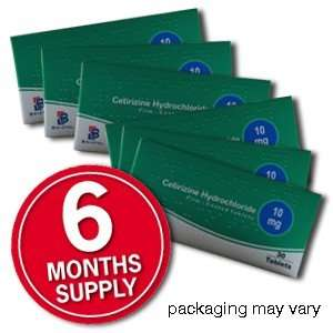 6 Months supply of hayfever tablets 'Cetirizine' - FREE SHIPPING - £2.99 @ Clear Chemist
