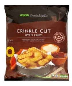 Asda chosen by you crinkle cut and straight cut oven chips    2kg bags £1.19