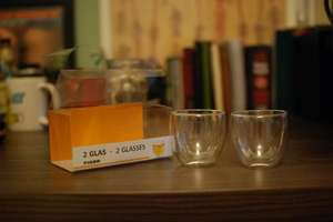 Double Walled Thermal Insulated Glasses set of 2 for £3 @ tigerstores