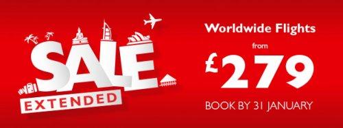 Gatwick to Dubai return £279, Heathrow to Bangkok £389 @ Flight Centre
