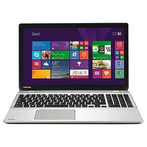 "Toshiba Satellite P50t-B-113 Laptop, Intel Core i7, 8GB RAM, 1TB, Blu-ray, 15.6"" 4K Ultra HD Touch Screen, Silver £999 @ johnlewis.com"