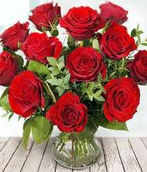 Flowers - Dozen Red Roses - eFlorist - £28.95 - Free Delivery
