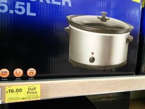 Tesco slow cooker 5.5L £16 @ Tesco