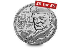 Own the new Winston Churchill £5 Coin for £5 - POSTFREE @ westminstercollection