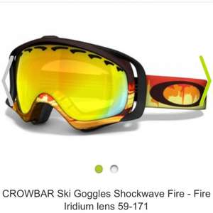 Oakley Crossbar Snow Goggles fire iridium £49 @ EyewearOutlet