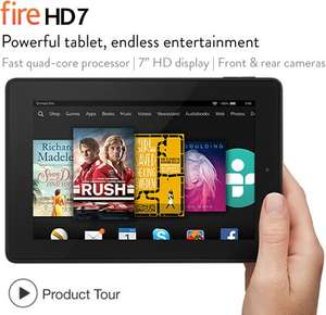 "Fire hd 7"" Tablet 8GB £99 And 16GB £119 at Amazon with Free Delivery"