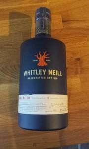 Whitley Neill Handcrafted Dry Gin 70cl £9.60 instore Tesco