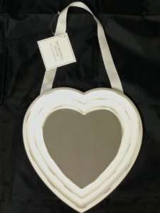 Heart shaped mirror with ribbon 30 cm only £1.99 in Home Bargains - (exact same mirror is £10.00 in Wilkinsons)