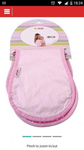 Minene Mi burp cloth - Pink £5.99 at Argos