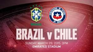 Brazil vs Chile at the Emirares Stadium 29th March - £30