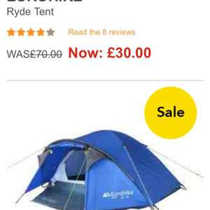 It's the winter of discount tent - eurohike tent reduced to £30 at blacks £70 rrp (free click and collect at any of jd sports shops)