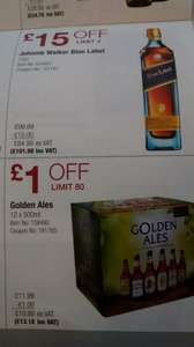 Costco UK: Johnnie Walker Blue Label 70 cl   £101.98 including VAT
