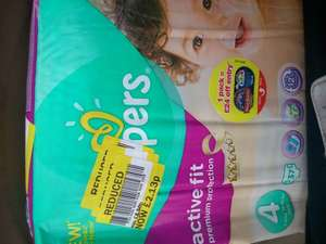 Pampers Active Fit 37 nappies for £2.13 in store Tesco