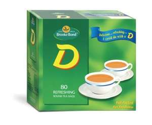 D Teabags (Not One Cup) 50% Extra Free, Pack of 120 Teabags £1.00 At Poundland
