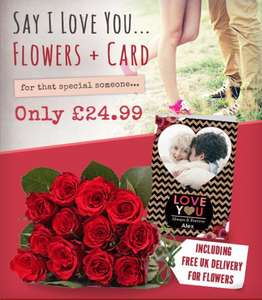 12 Red Roses and card £24.99 from Funky Pigeon