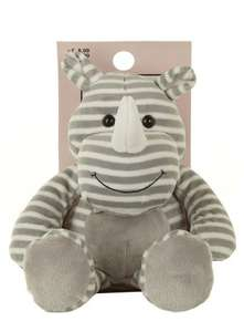 Grey Sitting Rhino Hottie £3.00 @ Dorothy perkins (Free c&c)