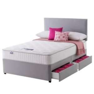 Argos - Silentnight Middleton Pocket Memory Kingsize 4 Drw Divan Bed