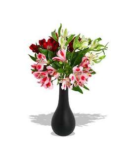Alstroemeria flowers + I Love You Mini Balloon £11.98 delivered via courier @ Serenta Flowers