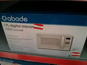 Abode 17l microwave reduced to £20 in store @ Asda (thornaby)