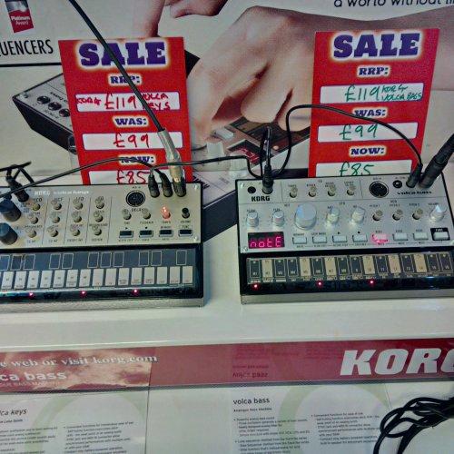 Korg Volca Keys / Bass  Analog Loop Synths £85 PMT Instore