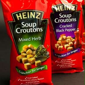 Heinz soup croutons cracked black pepper & mixed herb 4 for £1 B & M stores