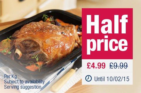 Whole lamb shoulder half price, now £4.99 per kg @The Co-op.