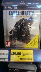 call of duty: advanced warfare £20 tesco instore