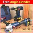 Ryobi 18v drill + free angle grinder £99 @ Screwfix