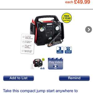 Jump start with compressor aldi from Thursday 5th 49.99