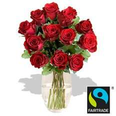 12 x Fairtrade Red Roses (Discounted price & Delivered Free on Valentine's Day - Using code) @ arenaflowers