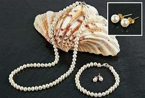 Fresh Water Pearl Necklace, Bracelet and Earring Set £19.99 @ Clifford James