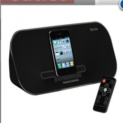 Technika ipod/iPhone/iPad speaker and charging dock £10 refurbished Tesco outlet / ebay
