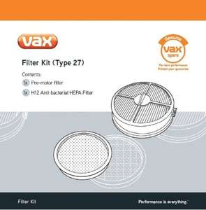 Vax Genuine Filter Kit (Type 27) - Air Upright @ Amazon £12.00