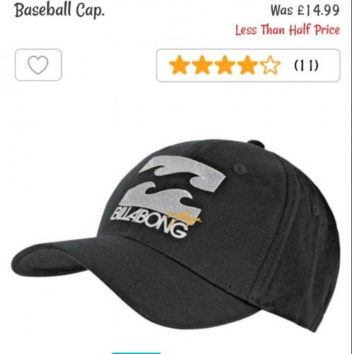 Billabong men's baseball cap - £3.99 Argos - back in stock