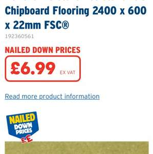 T&G Chipboard Flooring 22mm £8.38 each @ Selco BW
