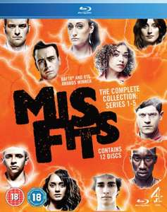 Misfits Complete Blu-ray Boxset Series 1-5 - £19.99 Delivered @ Zavvi