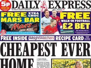Free Mars Exra Choc in The Daily Express on Saturday