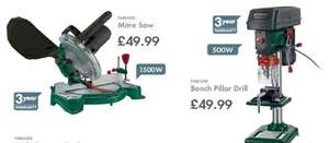 Parkside Mitre Saw/Bench pillar Drill £49.99 EACH @ Lidl from Monday