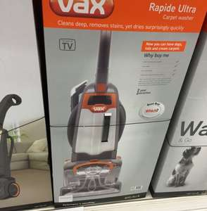 Vax rapide ultra Carpet Washer £99.99 Sainsburys in store