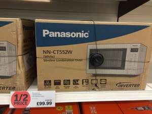 Panasonic NN-CT552WBPQ Combination Microwave Oven, White Half price @ £99.99 at Sainsburys in-store
