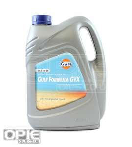 Gulf Formula GVX 5w-30 fully synthetic engine oil for VW PD / BMW / Mercedes DPF 10 Litres -15%=£45.98 delivered @ Opie Oils
