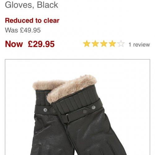 Barbour leather gloves £29.95 @ john lewis.com