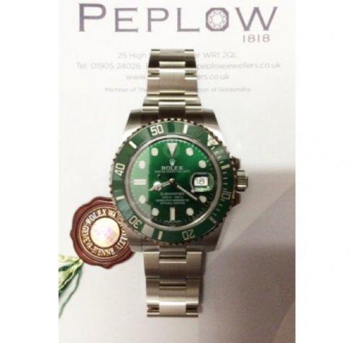 Rolex submariner date green £5445 @ Peplow Jewellers