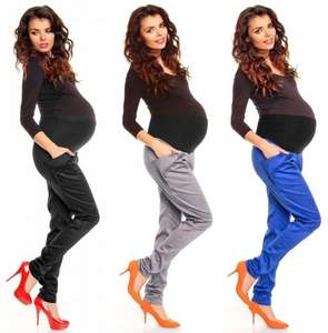 Pregnancy Maternity Women's Cotton Shiny Fabric Harem Trousers £16.25.zeta_ville_fashion25 @ Ebay/