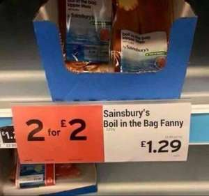 Boil in the Bag Kippers - Two for £2.00 @ Sainsburys