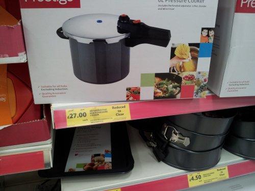 Prestige 6 litre Pressure cooker £27.00 @ Tesco instore