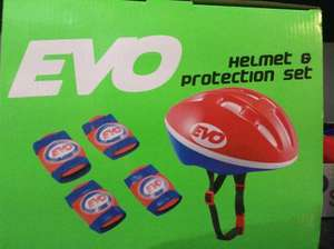 Evo kids safety helmet and pads protection set £3.25 at Tesco instore